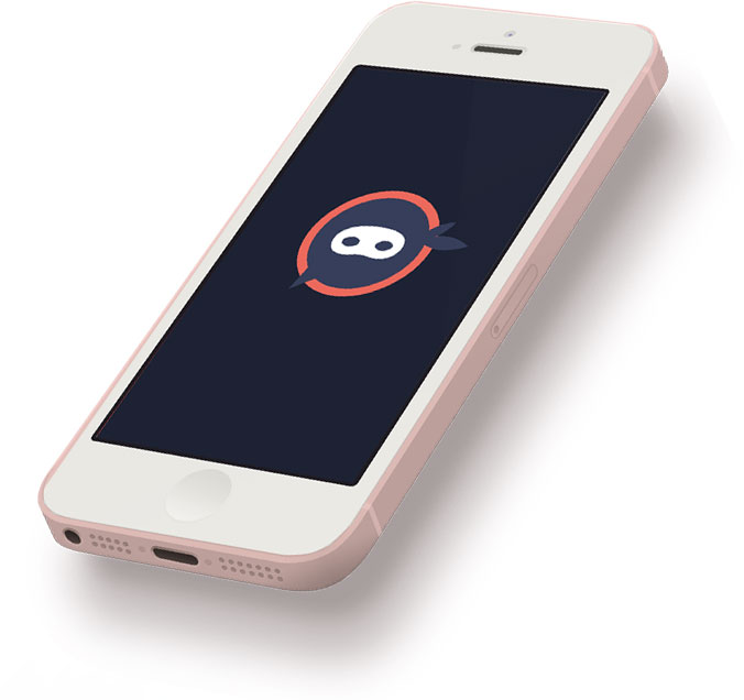 Mobile phone with Ninja Number icon